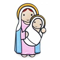 Plaque Magnetique Vierge Et Enfant