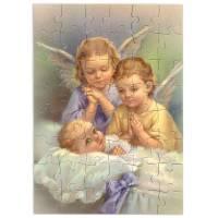 Puzzel 48 stks - 2 Engelen met Kind - 15 x 10 cm