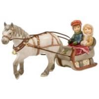 Paard Met Arreslee En Twee Kinderen