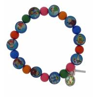Armband Elast Acryl Multicolor Kruisje Med