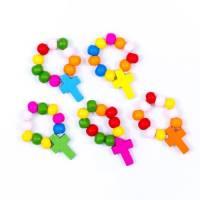 Tientje / koord - Hout Multicolor