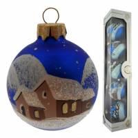 Set De 5 Boules De Noel Diam 6 Cm - Bleu