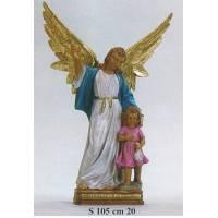 Statue 27 Cm Ange Gardien Rose