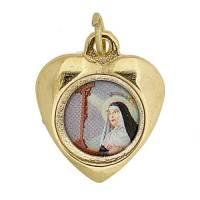Médaille - Ste Rita - Métal Doré