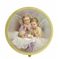 Boîte à Pilules - Deux Anges + Enfant - Diam 5 cm