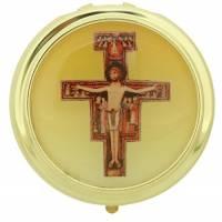 Pyxide Dorée Diam 60 mm - Croix St Damien