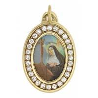 Médaille Ovale - Ste Rita + Strass