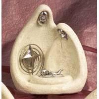Nativité imitation pierre et métal (20x14,5x9 cm)