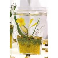 Bougie Gel Verre 15 Cm Narcisse