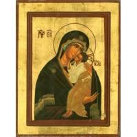 Icône - 16 X 12 cm - Vierge de Jarovslav