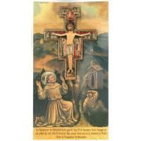 Croix St Damien -11x8cm +Bénédiction+Cello 22x12cm