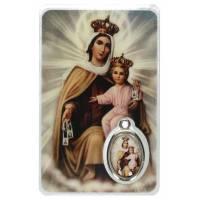 Carte-Méd-Prière - Vierge du Carmel - NL