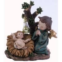 Kindje Jezus met Engel - 14 x 12 x H18 cm