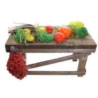 Santon Napolitain 12 Cm Table Avec Legumes 8X4x4.5Cm