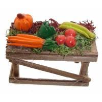 Santon Napolitain 08 Cm Table/Legumes 6X3x4cm