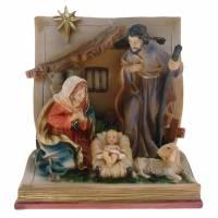 Nativité sur livre (11x10x8,5 cm)