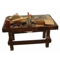 Santon Napolitain 08 Cm Table De Menuisier 6.5X4x4cm