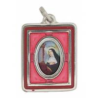 Medaille Rectangle Email Ste Rita