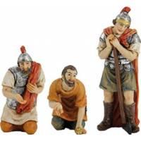 3 Fig Statues De La Passion Mise A Prix Des Vëtements 09 Cm