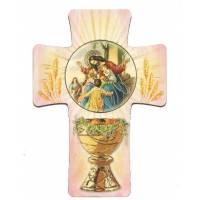 Croix 13 X 9 Cm Communion / Rose