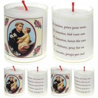 Set de 4 bougies - St Antoine - Texte 5 Langues