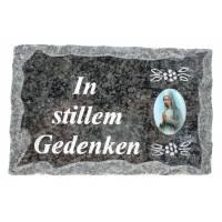 Plaque Cimetiere 09 X 14 Cm In Stillem Gedenken