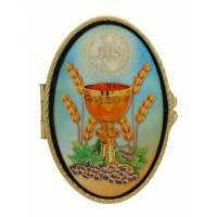 Boîte à Pilules - Communion - Mosaique - Ov 70 X 45 mm