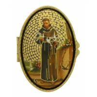 Boîte à Pilules - St François - Mosaique - Ov70 X 45 mm