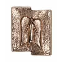 Plaque Murale Bronze 5,5 X 4,5 Cm - Ange