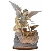 Statuette 8 X H15 cm - St Michel + Prière FR