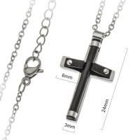 Croix 24 mm et chaîne acier inoxydable