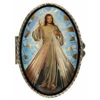Boîte à Pilules - Christ Miséricordieux - Mosaique - Ov70 X 45 mm