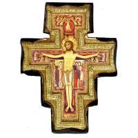 Croix St Damien 16 X 12 cm Bois massif