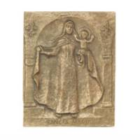 Plaque Murale 10 X 13 Cm - Maria - Bronze