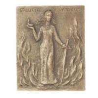 Plaque Murale 10 X 13 Cm - Ste Lucie - Bronze