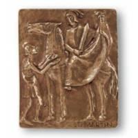 Plaque Murale 10 X 13 Cm - St Martin - Bronze