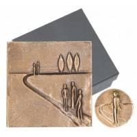 Set Plaques En Bronze Sur La Route
