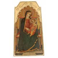 Retable De La Vierge Et Enfant 41 Cm X 19.5 Cm