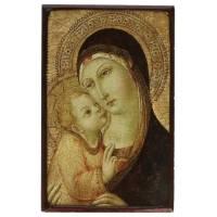 Icone Patinee De La Vierge Pietro Di Mencio
