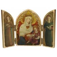 Tryptique Arrondi Vierge Du Petit Palais D Avignon 22 Cm X 15 Cm