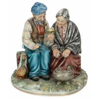 Group Old Man And Lady