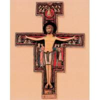 "Poster 20 X 25 Cm Croix St Damien ""or"""
