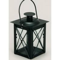 Lanterne - 8 X 8 X 16 cm - Fer Forgé Noir