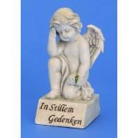 Engel Voor Grafsteen 17.5 Cm