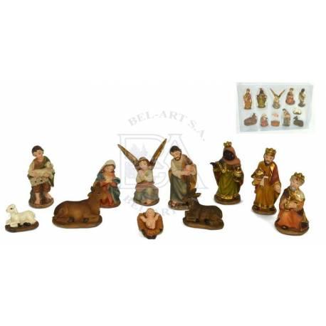 Kerstgroep 11 Figuren 3 Cm
